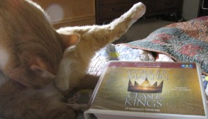 I meant for this to be a more dignified pic, as I so enjoyed this book, but Pico refused to put his bath on hold.