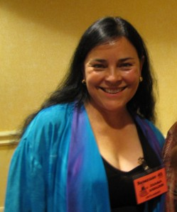 Diana Gabaldon & my shoulder (since I was making a stunned bunny face).