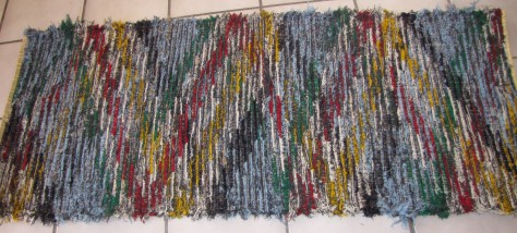 Here is an artsy wool rug. Sky Stones - because you have to name such pieces something.