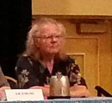 John Maddox Roberts on the Secret History/Alternate History panel, Bubonicon 2014
