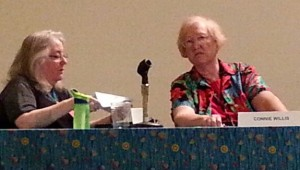 Claire Eddy & Connie Willis on the She's My Tardis panel, Bubonicon 2014