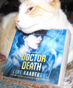 My book has a cat for a hat.