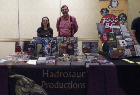 David Lee Summers with his daughter Verity at the their publishers table.